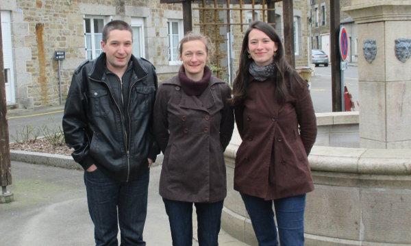 De gauche à droite : Christophe Dumilieu, Mathilde de Saqui de Sannes et Julia Langlais