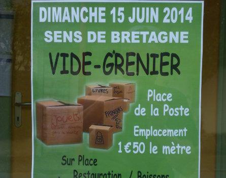 Vide-grenier à Sens de Bretagne
