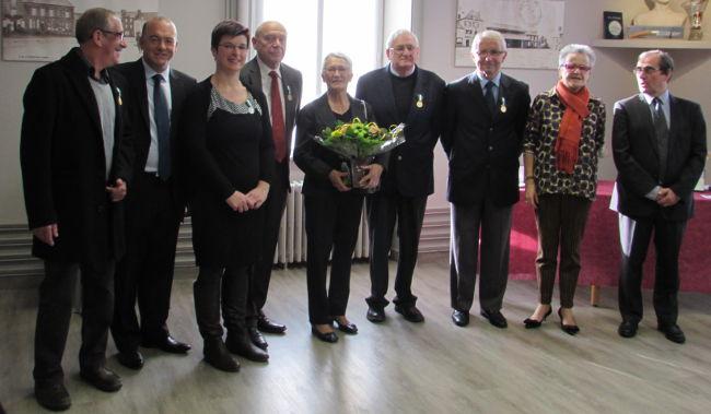 Yves Bazillais, Thierry Benoit, Fabienne Terahaukau, Philippe Daunay et son épouse, Armand Ferron, Bernard Coirre, Françoise Gâtel et Yves Colombel